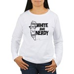 White And Nerdy Women's Long Sleeve T-Shirt