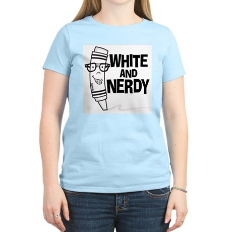 White And Nerdy Women's Light T-Shirt
