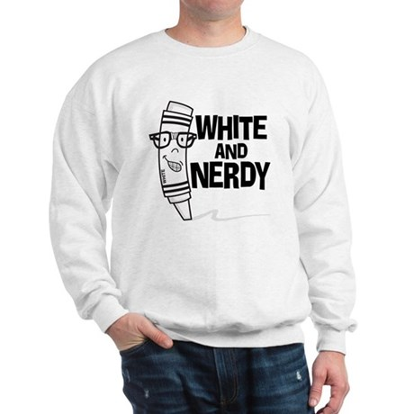 White And Nerdy Sweatshirt