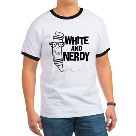 White And Nerdy Ringer T