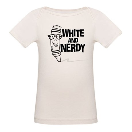 White And Nerdy Organic Baby T-Shirt