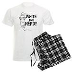 White And Nerdy Men's Light Pajamas
