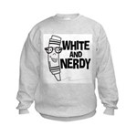 White And Nerdy Kids Sweatshirt