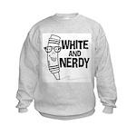 White And Nerdy Kids Sweatshirt