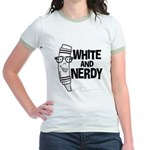White And Nerdy Jr. Ringer T-Shirt