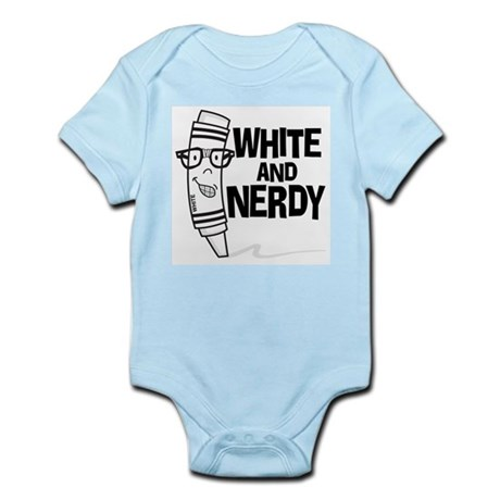 White And Nerdy Infant Bodysuit
