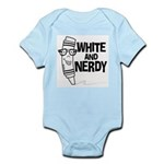 White And Nerdy Infant Bodysuit