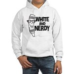 White And Nerdy Hooded Sweatshirt