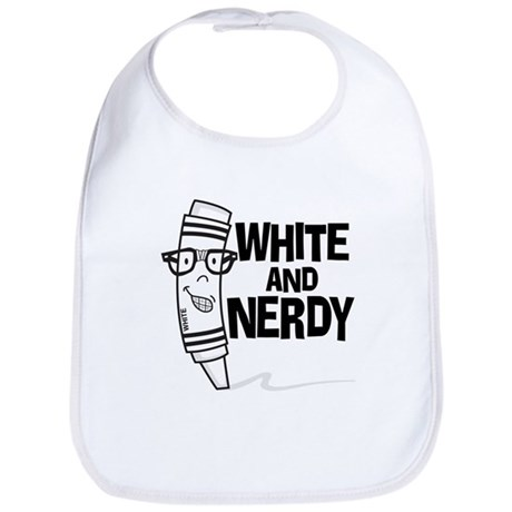 White And Nerdy Bib