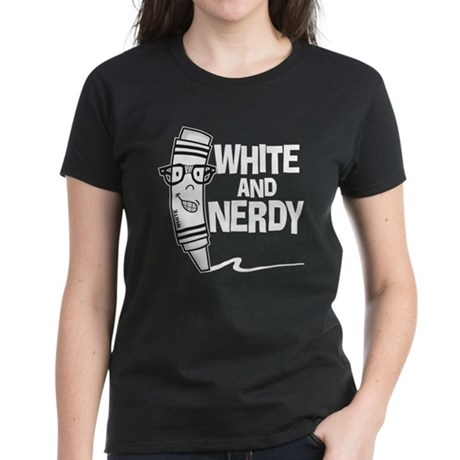 White And Nerdy Women's Dark T-Shirt