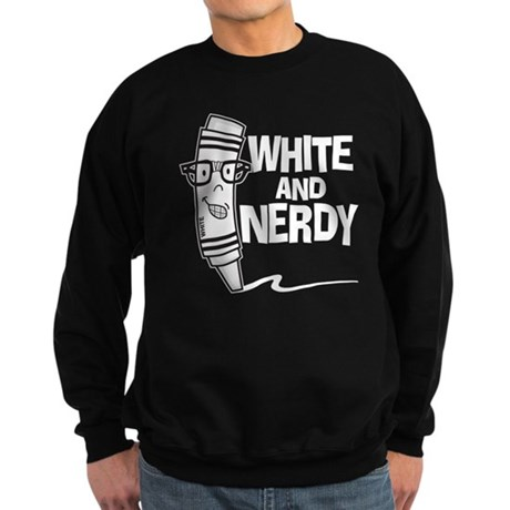 White And Nerdy Sweatshirt (dark)