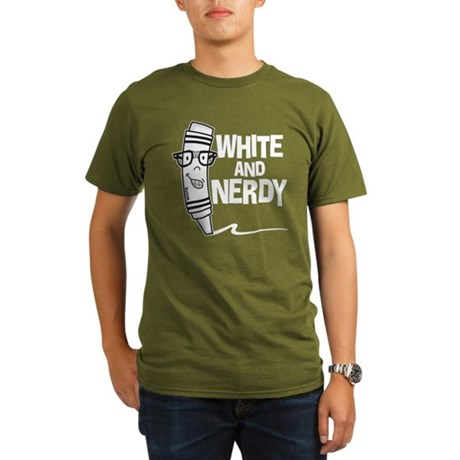 White And Nerdy Organic Men's T-Shirt (dark)