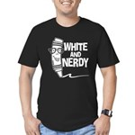 White And Nerdy Men's Fitted T-Shirt (dark)
