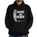 White And Nerdy Hoodie (dark)