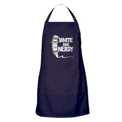 White And Nerdy Apron (dark)