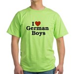 I love German Boys Green T-Shirt