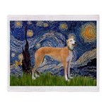 Starry / Greyhound (f) Throw Blanket