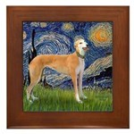 Starry / Greyhound (f) Framed Tile