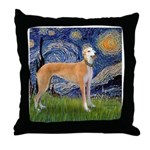 Starry / Greyhound (f) Throw Pillow