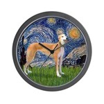 Starry / Greyhound (f) Wall Clock