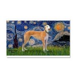 Starry / Greyhound (f) Car Magnet 20 x 12