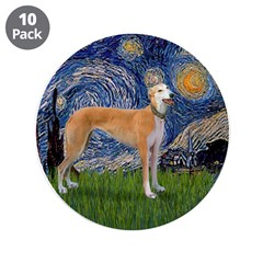 "Starry / Greyhound (f) 3.5"" Button (10 pack)"