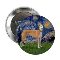 "Starry / Greyhound (f) 2.25"" Button (10 pack)"
