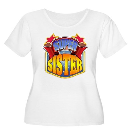 Super Sister Women's Plus Size Scoop Neck T-Shirt