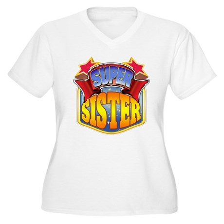 Super Sister Women's Plus Size V-Neck T-Shirt