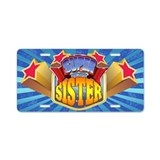 Super Sister Aluminum License Plate