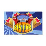 Super Sister Car Magnet 20 x 12