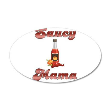 Saucy Mama 38.5 x 24.5 Oval Wall Peel