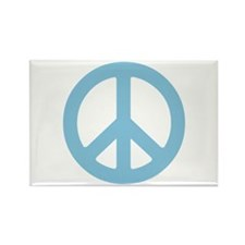 Blue Peace Sign Rectangle Magnet (100 pack)