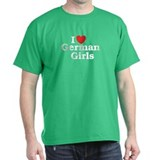 I loves German Girls Black T-Shirt