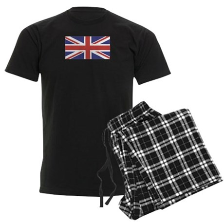 UNION JACK UK BRITISH FLAG Men's Dark Pajamas