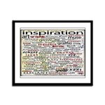 English Brainstorming Poster Framed Panel Print