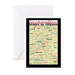French Brainstorming Poster Greeting Cards (Pk of