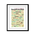 Spanish Brainstorming Framed Panel Print