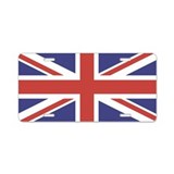UNION JACK UK BRITISH FLAG Aluminum License Plate