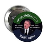 Environmentalists Against Obama button