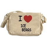 I heart icebergs Messenger Bag