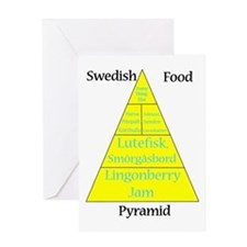 Swedish Food Pyramid Greeting Card
