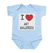 I heart art galleries Infant Bodysuit