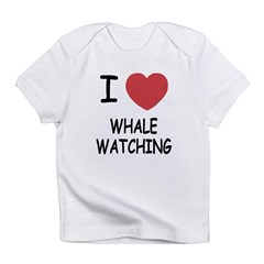 I heart whale watching Infant T-Shirt