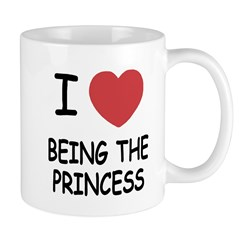 I heart being the princess Mug