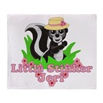 Little Stinker Jeri Throw Blanket