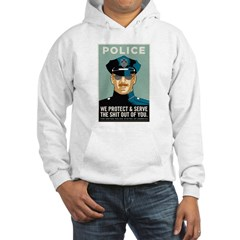 Police Protect & Serve Hooded Sweatshirt