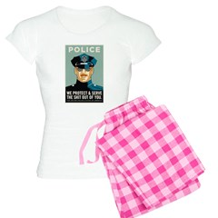 Police Protect & Serve Women's Light Pajamas