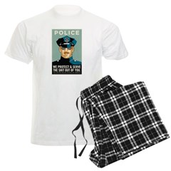 Police Protect & Serve Men's Light Pajamas