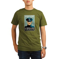 Police Protect & Serve Organic Men's T-Shirt (dark